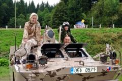 Špindlerova bouda BRDM-2 radiostanice OK1PM Krkonoše plavby